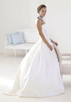 wedding dress in peau de soie by judd waddell