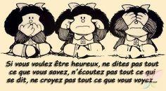 No decir, no oír, no ver Mafalda Quotes, Wise Monkeys, Quotes En Espanol, More Than Words, Spanish Quotes, Spanish Posters, Wise Words, Decir No, Favorite Quotes