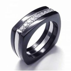 Diamond Unisex Black Titanium Band Width: Titanium RingQuantity: one pieceWe bring you the best quality Rings. It is popular with its good quality. Titanium Rings For Men, Titanium Jewelry, Jewellery Uk, Jewelry Shop, Color Ring, Stainless Steel Rings, Diamond Rings, Black Diamond, Band Rings