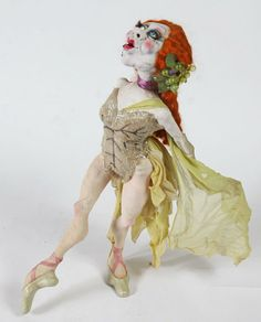 OOAK Doll - Van Craig Red-headed ballerina with Van Craig's copyright 1985