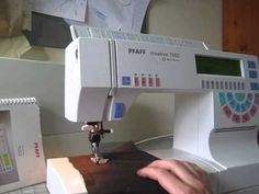 Pfaff 7550 Sewing Machine, my little workhorse that also is an embroidery machine...love it!