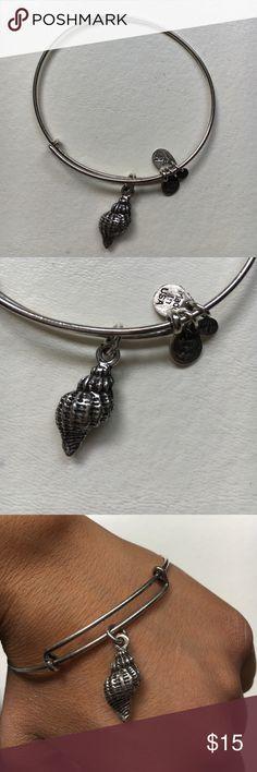Alex and Ani Seashell Charm Bracelet silver finish, seashell charm Alex & Ani Jewelry Bracelets