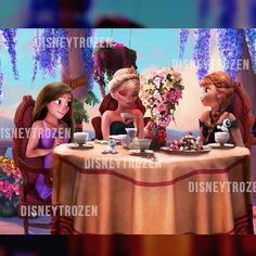 @disneytrozen Anna Elsa and rap...Instagram photo   Websta (Webstagram) Frozen Book, Frozen And Tangled, Frozen Elsa And Anna, Disney Frozen, Rapunzel, Jack Frost, Merida, Disney Actual, Disney Girls