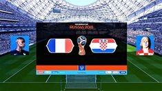 France vs Croatia | FIFA World Cup Russia 2018 Final | Luzhniki Stadium ... France Vs, World Cup Russia 2018, New Champion, Premier League Matches, Fifa World Cup, Hd Video, Croatia, Finals, The League