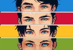 Dick Grayson, Jason Todd, Tim Drake, and Damian Wayne
