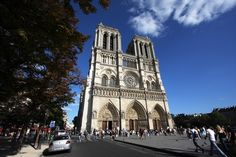 Notre Dame Cathedral Paris. Classic Gothic styling utilizing the flying buttresses. It has fantastic stained windows made to let in light and illstraite the stories that the priests gave sermons about.