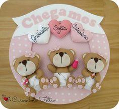 Guirlandas para maternidade by carambola arte em feltro, via Flickr