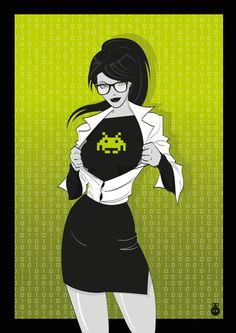 """Super Geekette"" by French Graphic Designer Lily's Factory."