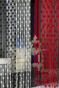 joulunpunainen Drapes Curtains, Candles, Home Decor, Decorations, Decoration Home, Room Decor, Candy, Interior Design, Candle Sticks