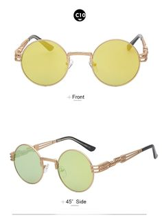 bb11879c9a Designer Boho Style Steampunk Style Sunglasses – Available in 10 Colors