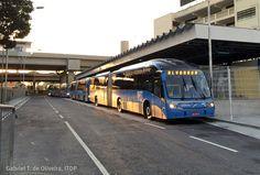Rio de Janeiro, articulated buses, BRT stations, BRT roadways at stations, BRT vehicles