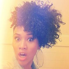 Love her hair!! Curly Nikki | Natural Hair Styles and Natural Hair Care: Down and Out