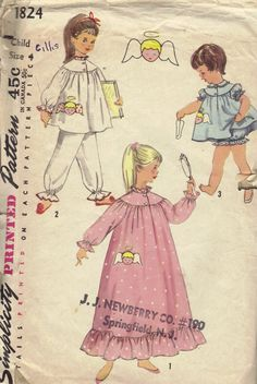 Simplicity 50s Sewing Pattern Girls by AdeleBeeAnnPatterns on Etsy, $4.50