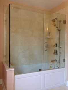 Frameless Bathtub Enclosure