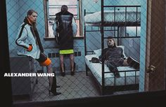 anna ewers, vanessa moody, kaitlin aas, lexi boling and kat hessen by steven klein for alexander wang f/w 14.15 | visual optimism; fashion editorials, shows, campaigns & more!