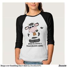 Bingo cow Gambling fun t-shirt
