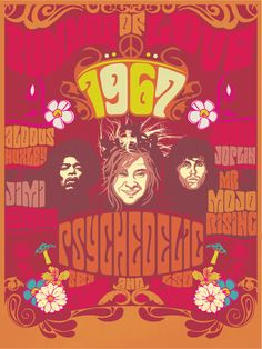 Psychedelic Year Original V by PaChIkNo on DeviantArt Hippie Posters, Rock Posters, Concert Posters, Music Posters, Gig Poster, Band Posters, Hippie Love, Hippie Man, Vintage Rock