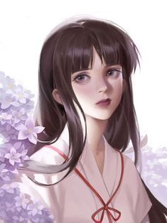 Kai Fine Art is an art website, shows painting and illustration works all over the world. Inuyasha Fan Art, Inuyasha And Sesshomaru, Kagome And Inuyasha, Fanart, Mai Hime, Naruto Girls, Digital Art Girl, Beautiful Anime Girl, Anime Fantasy