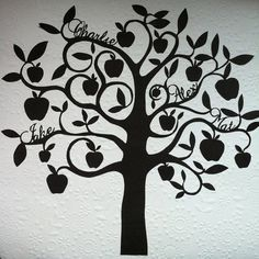 Apple tree branch drawing bing images family tree for Apple tree tattoo designs