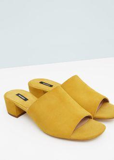 Slingback-Sandale aus Wildleder