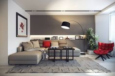 74 Modern Minimalist Master Living Room Interior Design 2018 Modern living room Cozy living room Home decor ideas living room Living room decor apartment Sectional living room Living room design A Budget Small House Interior Design, Living Room Paint, L Shaped Living Room, Living Room Red, Minimalist Living Room, Modern Minimalist Living Room, Black And Silver Living Room, Furniture Placement Living Room, Living Room Design Modern