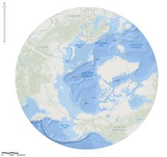 Arctic Ocean Basemap - Beta  #ocean #GIS #Esri