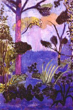 Matisse'in en sevdiğim resimlerinden biri: Moroccan Landscape (Acanthus) 1912.