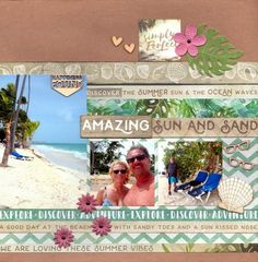 Amazing Sun and Sand : Gallery : A Cherry On Top Vacation Scrapbook, Disney Scrapbook, Baby Scrapbook, Scrapbook Page Layouts, Scrapbooking Ideas, Scrapbook Pages, Vacation Trips, Vacations, List Challenges
