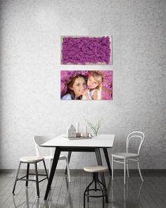 In Kombination mit Fotos lassen sich Moosbilder besonders cool in Szene setzen. Die Möglichkeiten sind Grenzenlos! Table, Furniture, Home Decor, Pictures, Scene, Decoration Home, Room Decor, Tables, Home Furnishings