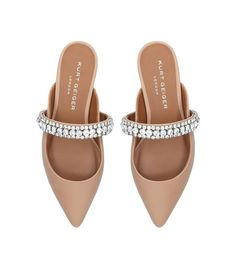 206a452dcc4 Shoes  Flat Sandals Kurt Geiger London Leather Embellished Princely  Slippers Trendy Womens Shoes