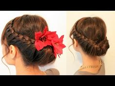 ▶ Holiday Braided Updo Hairstyle for Medium Long Hair Tutorial - YouTube