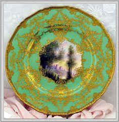 Utterly Rare & Breathtaking Signed Royal Worcester Dinner Plates