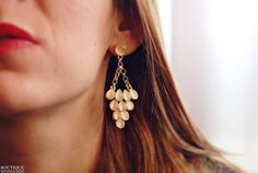 Theatre earrings Beige by BoutiqueMinimaliste on Etsy