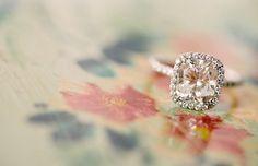 peach champagne sapphire diamond ring