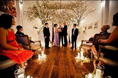 Lovely, simple ceremony backdrop.