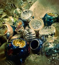 Antique Christmas ornaments collection.