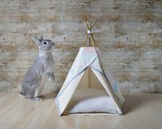 Rabbit teepee Guinea Pig bed Kitten tent with by HipTepeeHooray