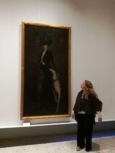 Me in Venice,Modern art Museum#greyhounds