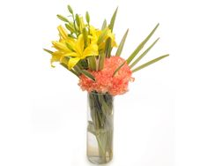 Check out our New Product  Fathers Day - Orange Delights Fathers Day Arrangement of 6 orange carnations and 2 yellow lilies  Rs.856