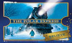Polar Express Train ride in Elkins WV..www.mountainrailwv.com ..Kids ride in their PJ's and get hot chocolate to drink!