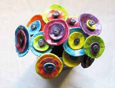 Ceramic Clay, Ceramic Painting, Ceramic Pottery, Pottery Art, Ceramics Projects, Clay Projects, Clay Crafts, Ceramic Flowers, Clay Flowers