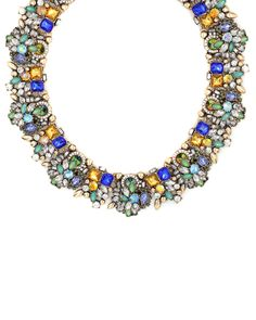 Tess Jeweled Collar Necklace from The Shopping Bag #StyleEveryMile #WCW