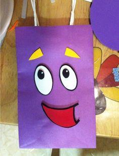 loot bag for dora theme party 4th Birthday Parties, 3rd Birthday, Birthday Ideas, Party Bags, Party Favors, Mochila Dora, Dora The Explorer, Fiesta Party, Ideas