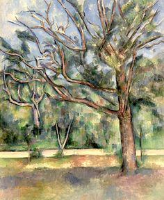 Trees and Road, c.1890 (oil on canvas), Cezanne, Paul (1839-1906)