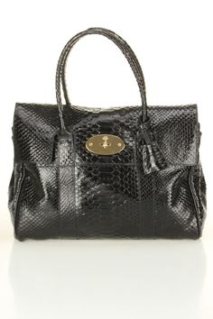 Mulberry Bayswater Silky Snake Shine In Ink Blue.