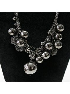 Faux Pearls Embellished Necklace