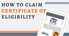 How to Claim the CSC Certificate of Eligibility Certificate Of Eligibility, Thirty 30, Pencil Test, Civil Service, Technology, Paper, Tech, Tecnologia