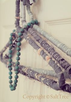 I love this idea. I have a lot of white plastic hangers that I would love to dress up with fabric, or I might try ribbon as well.