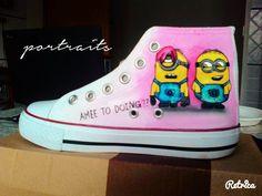 Minons Handpainted Shoes