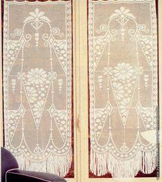 Filet häkeln Gardine - crochet curtain                     -Gallery.ru / Foto # 40 - Vorhänge - Natalya111